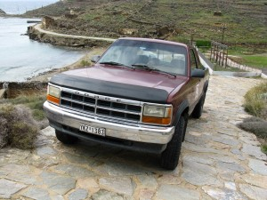 The Dodge Dakota in a befitting setting (Kea island)
