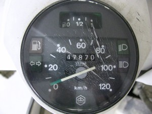 The PX200E speedo as the rest of the scooter is due for a refurbish.