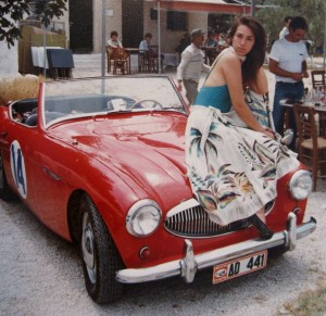 My sweatheart Marisa, poses during a Classic Car Rally in Marathon.
