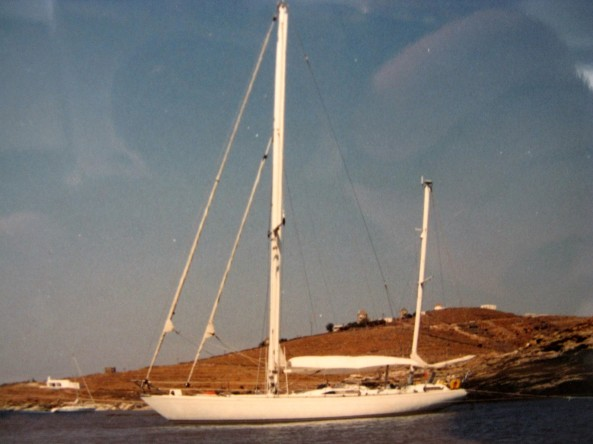 """S/Y Sunny"" a Coala 50 feet cetch built by the Italian Cantieri Navali di Costaguta."