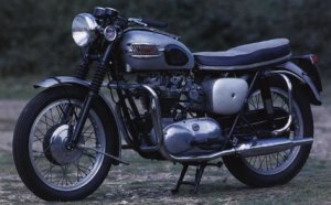 A Triumph Bonnie '63 like mine