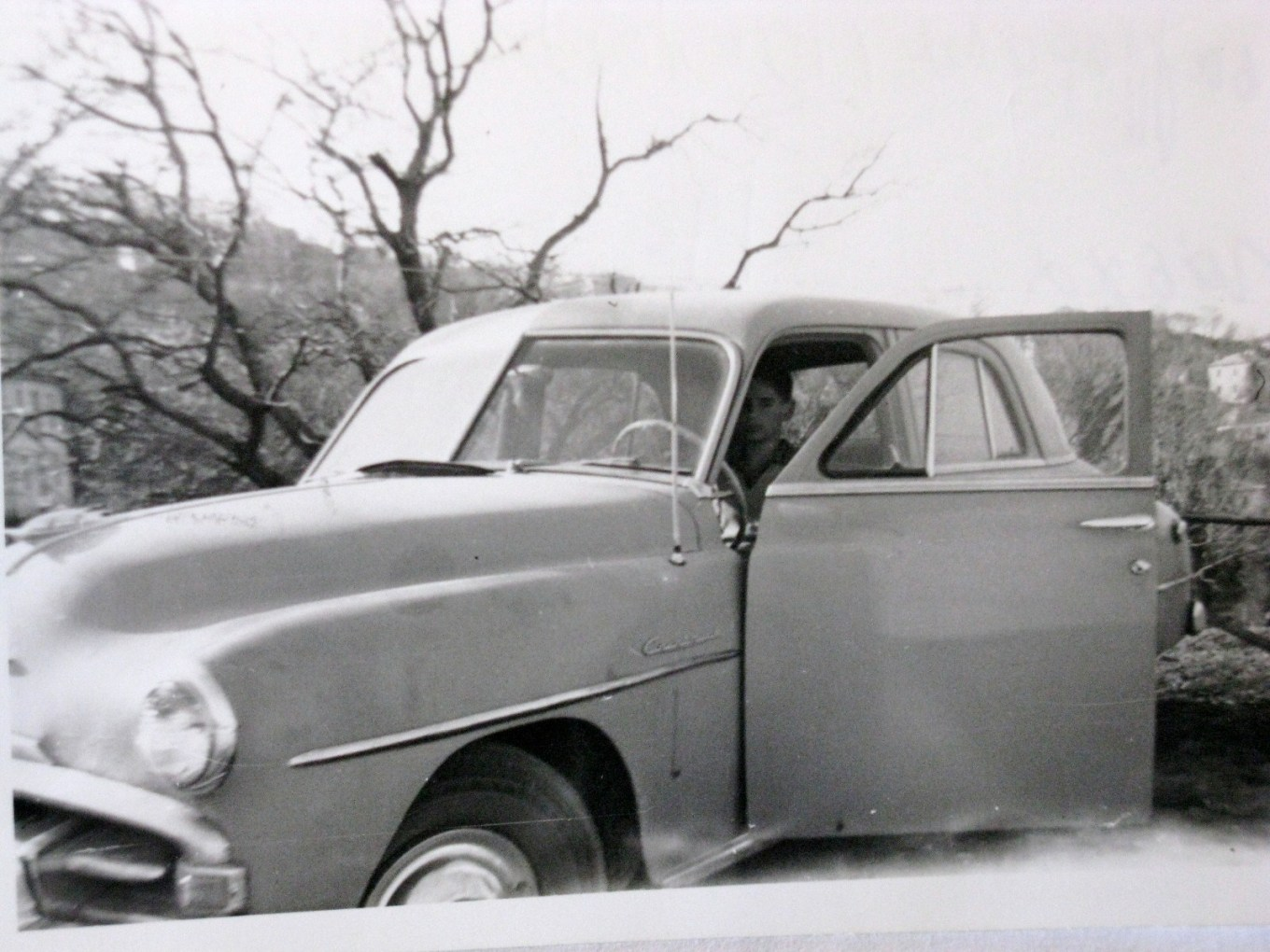 The Plymouth '52 and Byron ca. 1958 in Tsagarada, Pelion.