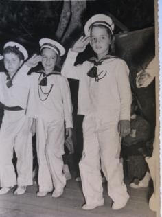 """Byron at elementary school """"HATJIKONSTANTINOU"""" ca. 1956"""