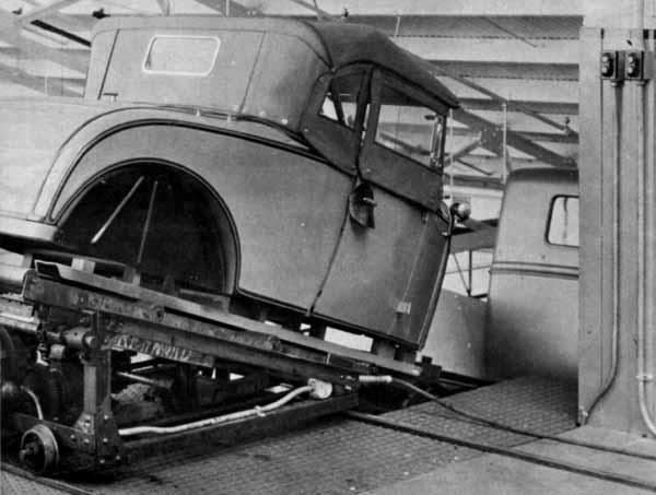 A Ford Model A Roadster body ready to be mounted on its chassis.