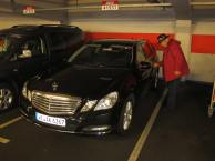 Avis offered a Christmas present upgrade! A low miles Mercedes-Benz E200 Estate, our luxury wheels for the next six days!