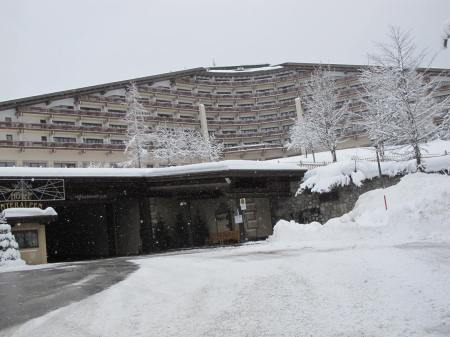 The entrance of the Hotel Interaplen