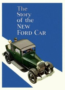 The Story of the New Ford Car poster.
