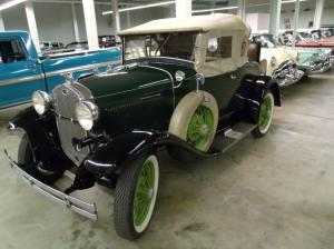 The Car at the Classic Car Auctions premises in Canton Ohio awaiting shipment