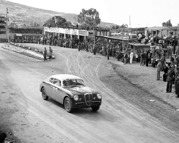 The B20GT of Antonio Pucci placing 10th in the 1953 Targa Florio