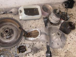 Few of the parts to be reconditioned. The clutch disc and diaphragm were replaced.