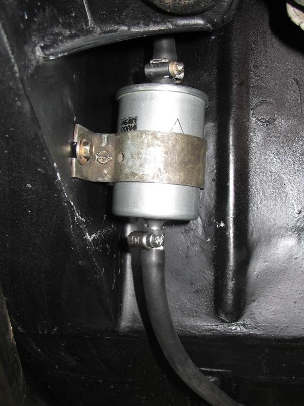In addition, a heavy duty fuel filter was installed