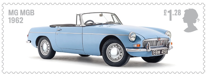 The MGB is featured in a British Post stamp!