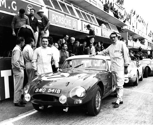MGB's were and still are raced extensively. Here with Paddy Hopkirk.