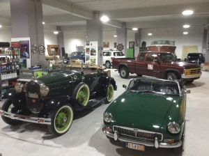 In good company with my other green roadster, the 1931 Ford Model A