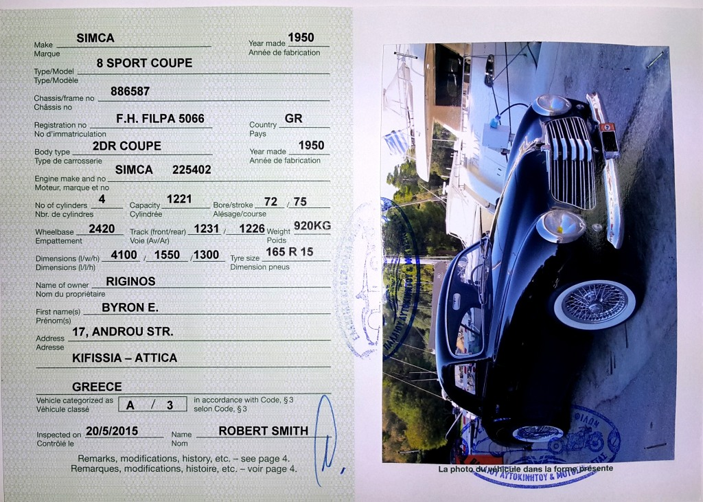 SIMCA-5066-FIVA Id Card-2