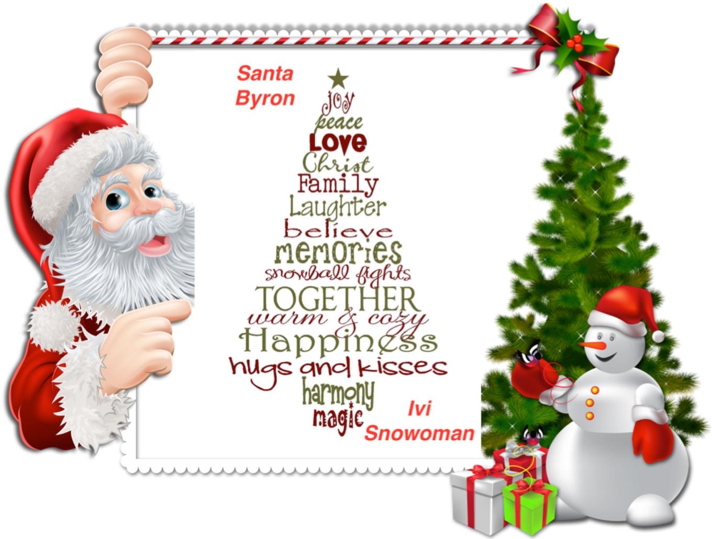 Santa_Byron&Ivi_Snowoman_Framed